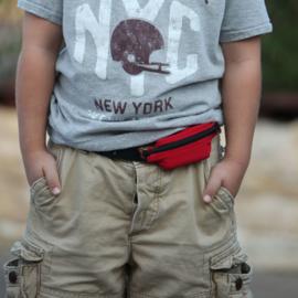 SPIbelt diabetic kids camouflage pomptas met zwarte rits