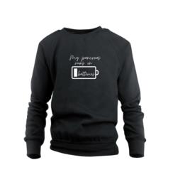 Sweater - My pancreas runs on batteries Schwarz