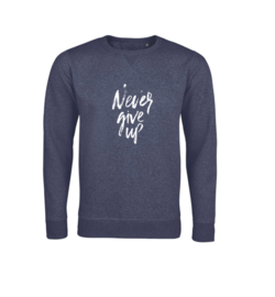 Sweater - Never give up Navy