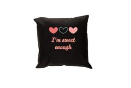 Pillow - I'm sweet enough Black