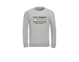Sweater - Type 1 diabetes Grau