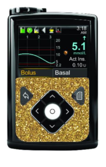 Medtronic 640G/670G Sticker - Gold Glitter