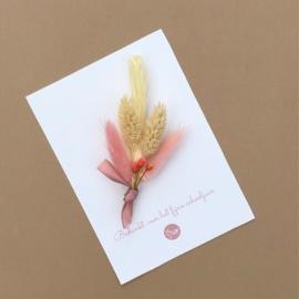 Card dried flowers -bedankt voor het fijne schooljaar