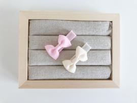 Babyspeldjes licht roze - creme