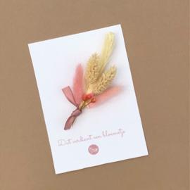 Card dried flowers -dat verdient een bloemetje