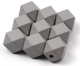 Donkergrijze hexagon