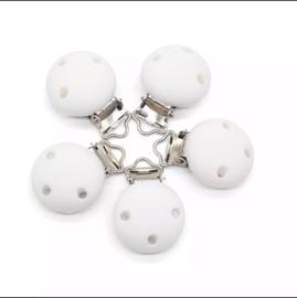 Witte siliconen clipper