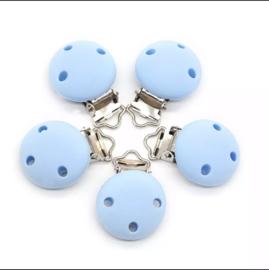 Blauwe silcionen clipper