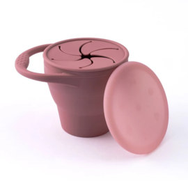 Siliconen snack cup light maroon
