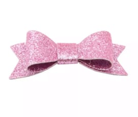 Glitterhaarspeld roze