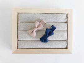 Babyspeldjes blauw - taupe
