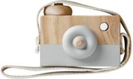Houten fototoestel grijs
