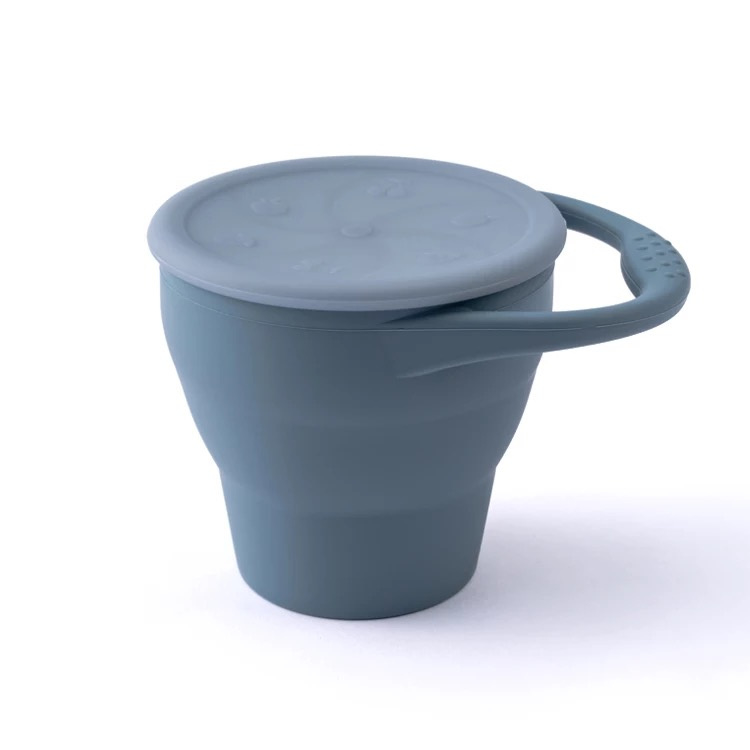 Siliconen snack cup blue