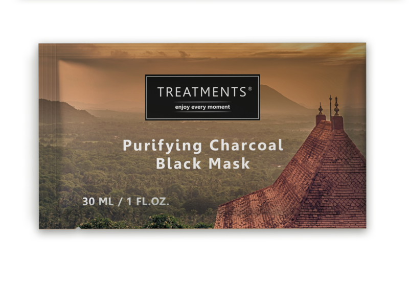 Doosje 25 stuks- 20ml Sachet Black purifying charcaol mask