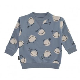 OV Sweater Blue Fish