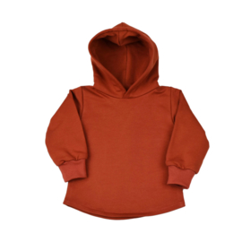 Hoodie Soft - Reddish Brown