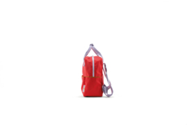 Small backpack corduroy sporty red