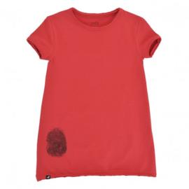 Dress / Longshirt Red Fingerprint
