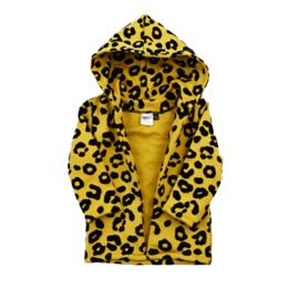 Hoodie Vest - Leopard Ochre