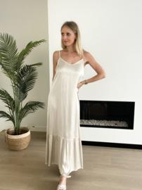 Lio 2 dress beige/ gebroken wit