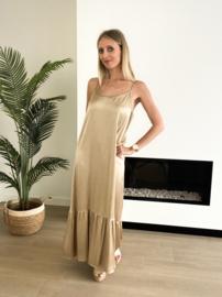 Lio 2 dress goud/bruin