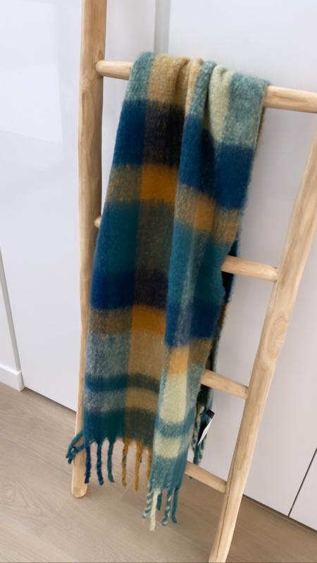 Sjaal Winter groen/blauw/geel