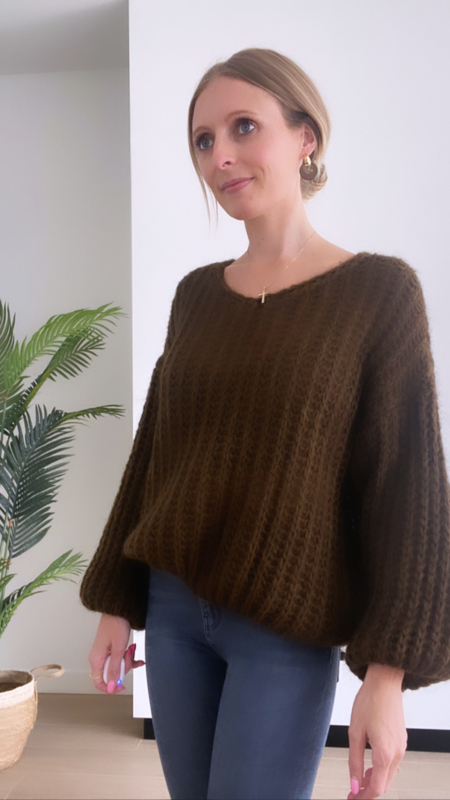 Jolien knit chocolat