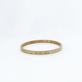 Armband goud - 'Met volle angst vooruit'