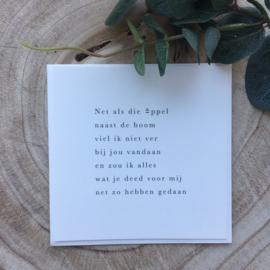 Rouwkaart - Verlies van moeder/vader