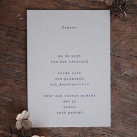 Rouwkaart + zadenenvelop - Ergens