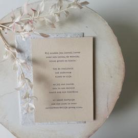 Rouwkaart + zadenenvelop - Verlies van een kind