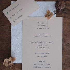 Pakket 3 rouwkaarten + zadenenveloppen