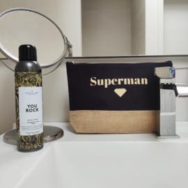 Superman toilettas - Nu ook met 'You Rock' body foam