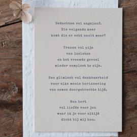 Rouwkaart + zadenenvelop - Woorden bij aangekondigd afscheid