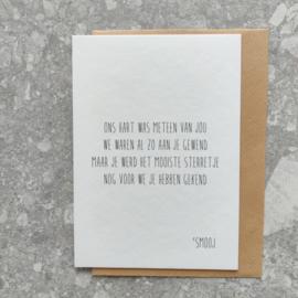 Rouwkaart - Mooiste sterrenkindje