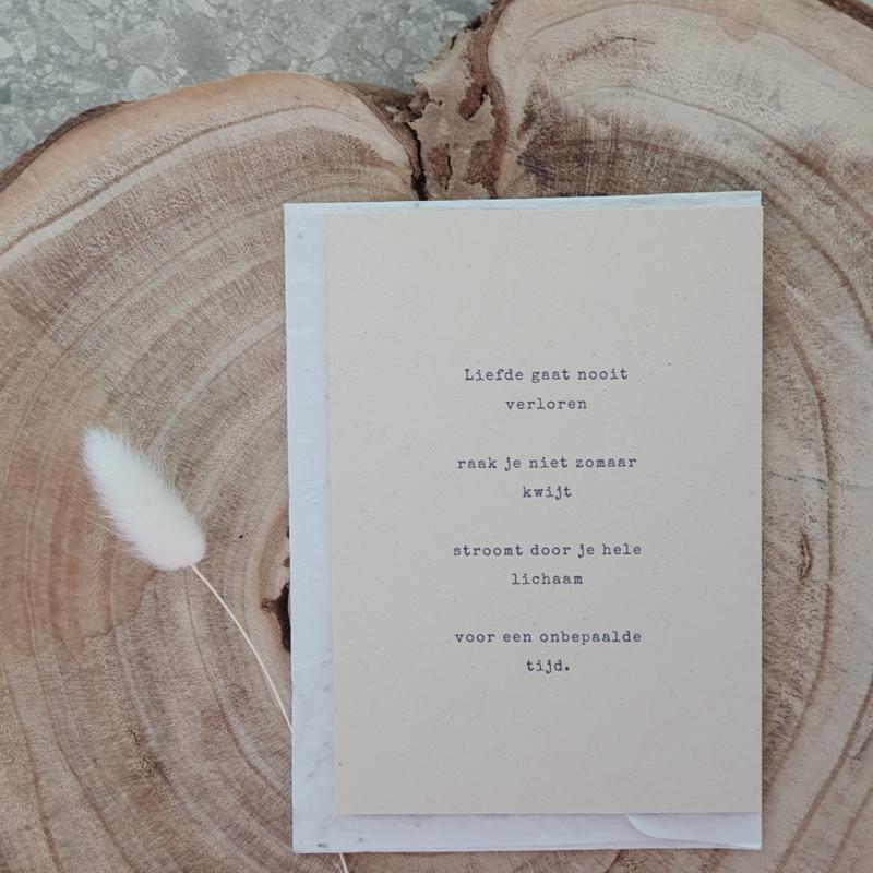 Rouwkaart + zadenenvelop - Liefde