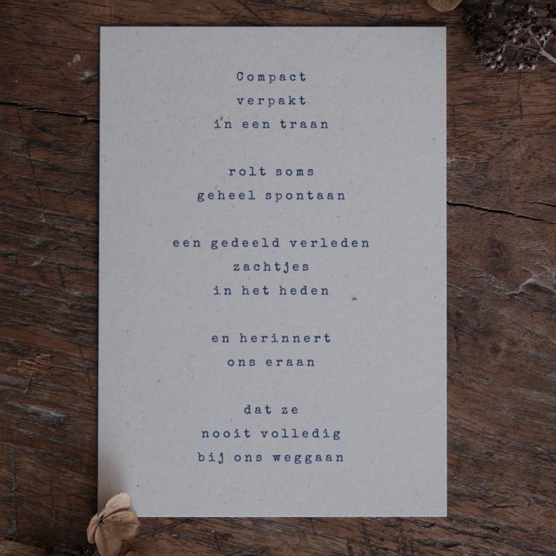 Rouwkaart + zadenenvelop - Traan