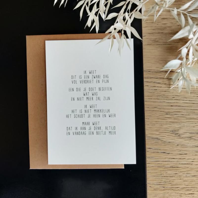 Rouwkaart - Voor een speciale dag (begrafenis, sterfdatum...)