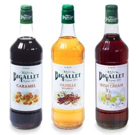 koffiesiroop voordeelpakket Caramel, Irish Cream & Vanille - 3 x 100cl