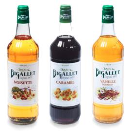 koffiesiroop voordeelpakket Caramel, Vanille & Hazelnoot - 3 x 100cl
