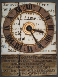 Clock with quotes (ca 16 x 20 cm)