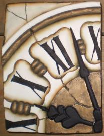 Clock left (ca 16 x 20 cm)