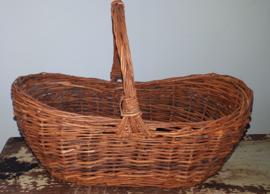 Beautiful old decorative handle basket ca. 26 x 16 cm