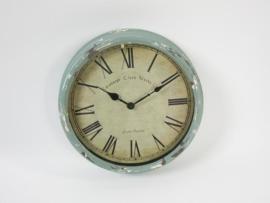 Industriële klok, metaal Blue, diameter 36 cm!