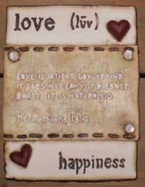 Love and Happiness (ca 16 x 20 cm)