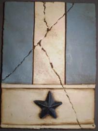 Blue Star (ca 16 x 20 cm)