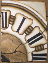 Clock right (ca 16 x 20 cm)