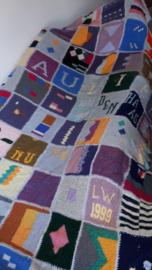 Retro handmade blanket 165 x 270 cm