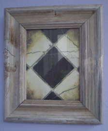 Wooden picture frame with picture ca.34 x 29 x 3 cm