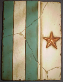 Green star (ca 16 x 20 cm)